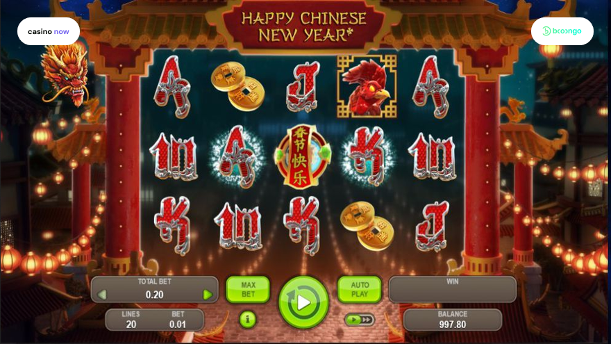 Machine à sous Happy Chinese New Year Booongo Gaming capture d'écran